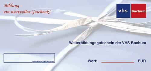 Bild vom Geschenkgutschein der VHS Bochum
